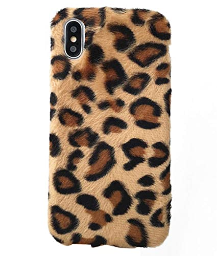 best service 8a118 893b2 UnnFiko Fluffy Leopard Print Case Compatible with iPhone 6 Plus/iPhone 6s  Plus, Fashion Luxury Soft Fur Fuzzy Warm Plush Winter Case Protective  Covers ...