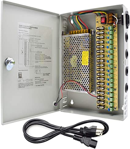 DC 12V 10A 120W 9 Channel Power Supply Box Distributed For CCTV Security Camera