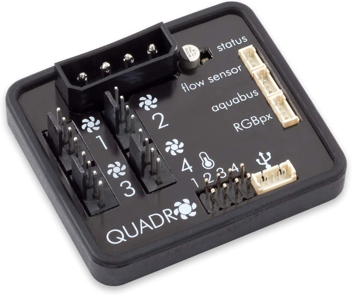 Aqua Computer Quadro PWM Fan Controller with Ambient/Backlight Connector