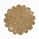 SARO LIFESTYLE 4170.BZ15R Round Placemat, 15-Inch, Bronze (Set of 4 pcs)