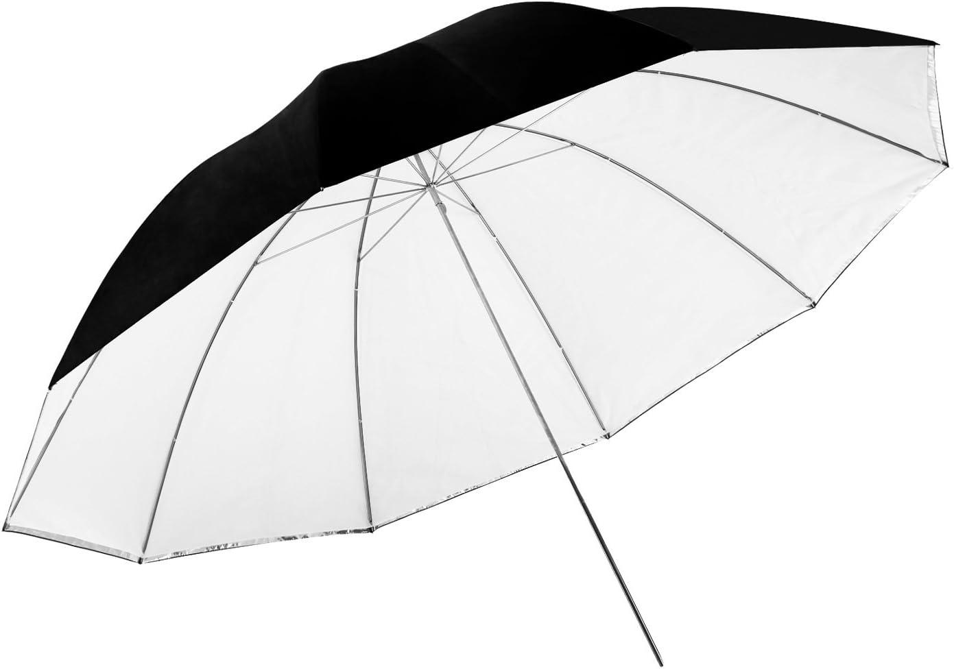 Neewer - Paraguas de iluminación para fotografía (150 cm, Desmontable, con Cubierta Negra extraíble y Parte Trasera Plateada)