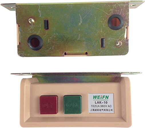 WIRE NOT INCLUDED ON//OFF SWITCH BOX FOR INDUSTRIAL SEWING MACHINES 110VOLT