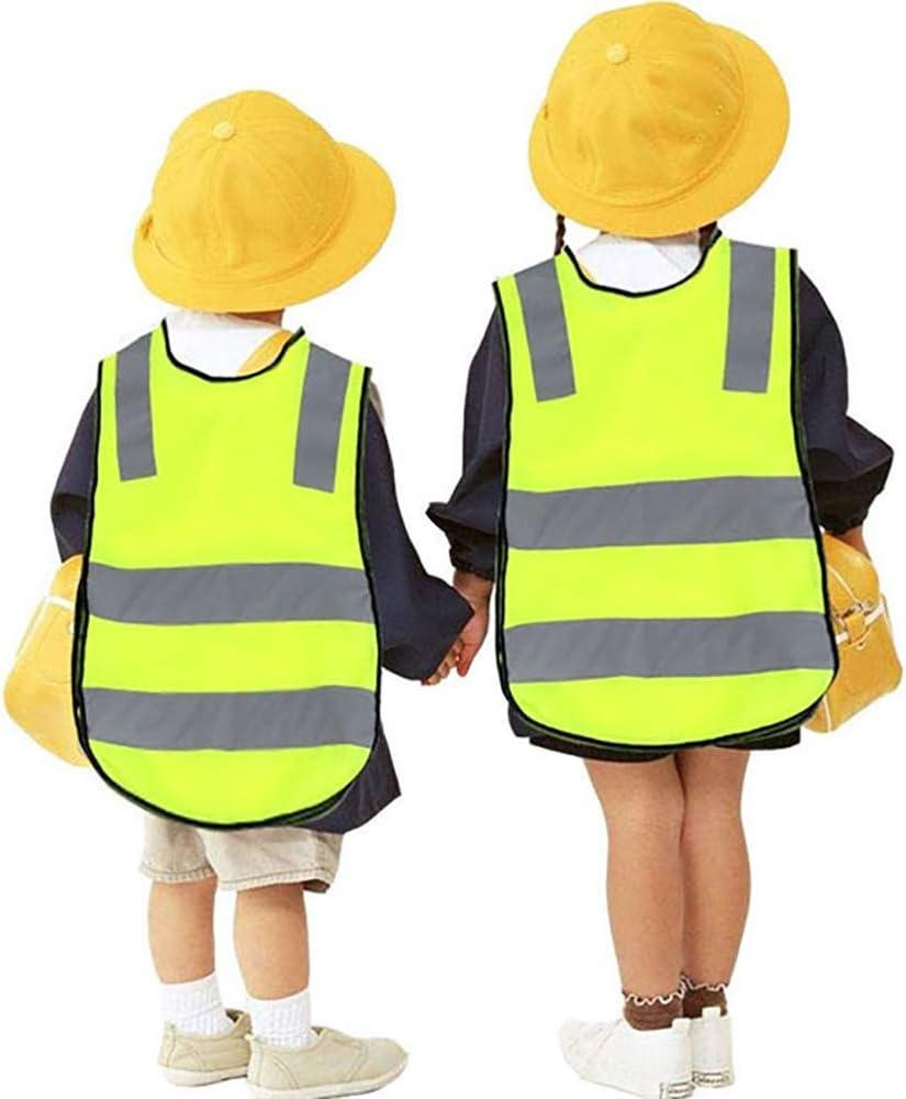 Atmungsaktiv Universal Gr/ö/ße Schutz f/ür Jungs M/ädchen sweguard 2 Warnweste Kinder Sicherheitsweste Gelb Stark Sichtbar Gelb Stark Sichtbar, Kinder