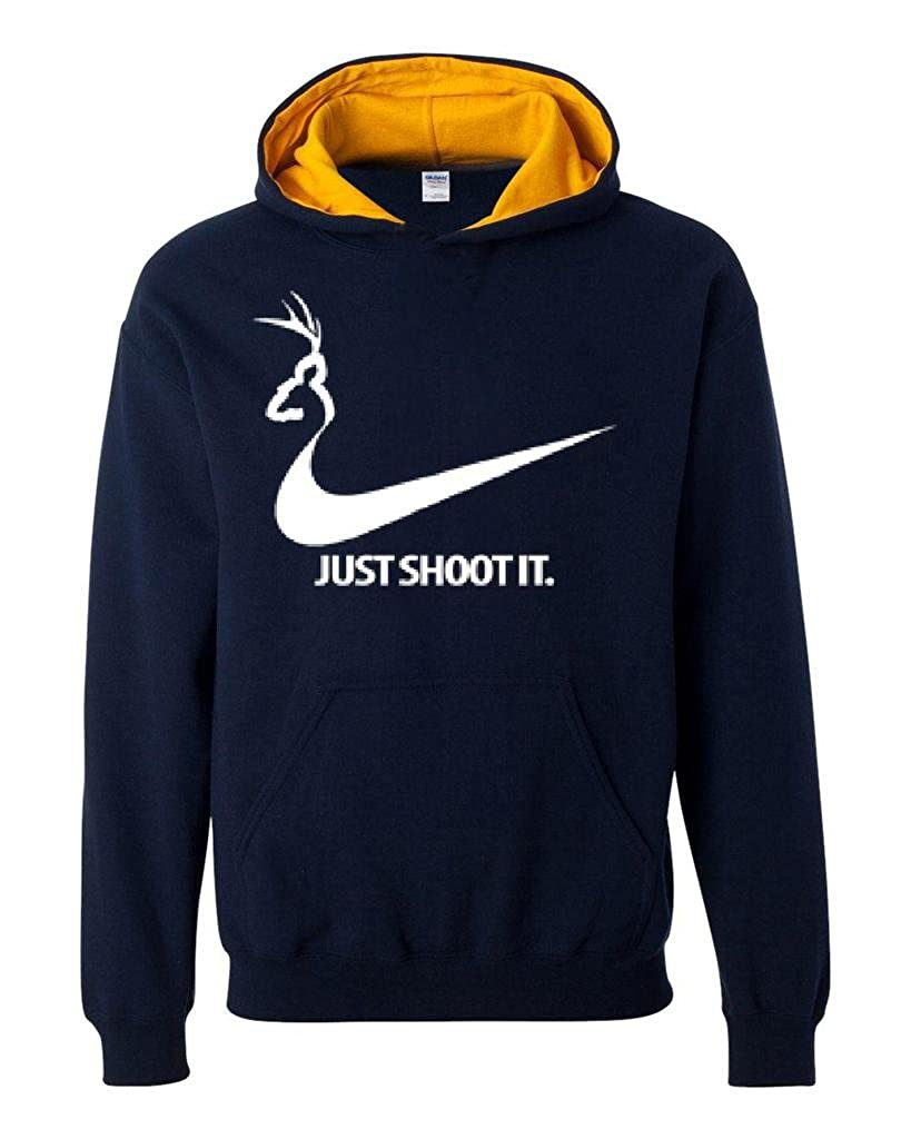 Artix Just Shoot It Deer Hunting Unisex Contrast Color Hoodie