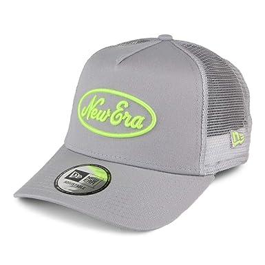 A NEW ERA Gorra Trucker Neon Pop Gris-Amarillo: Amazon.es: Ropa y ...