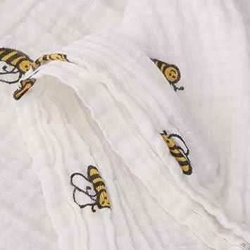 MagiDeal Breathable Cotton Gauze Baby Blanket Summer 110cm x 110cm Blue Stars