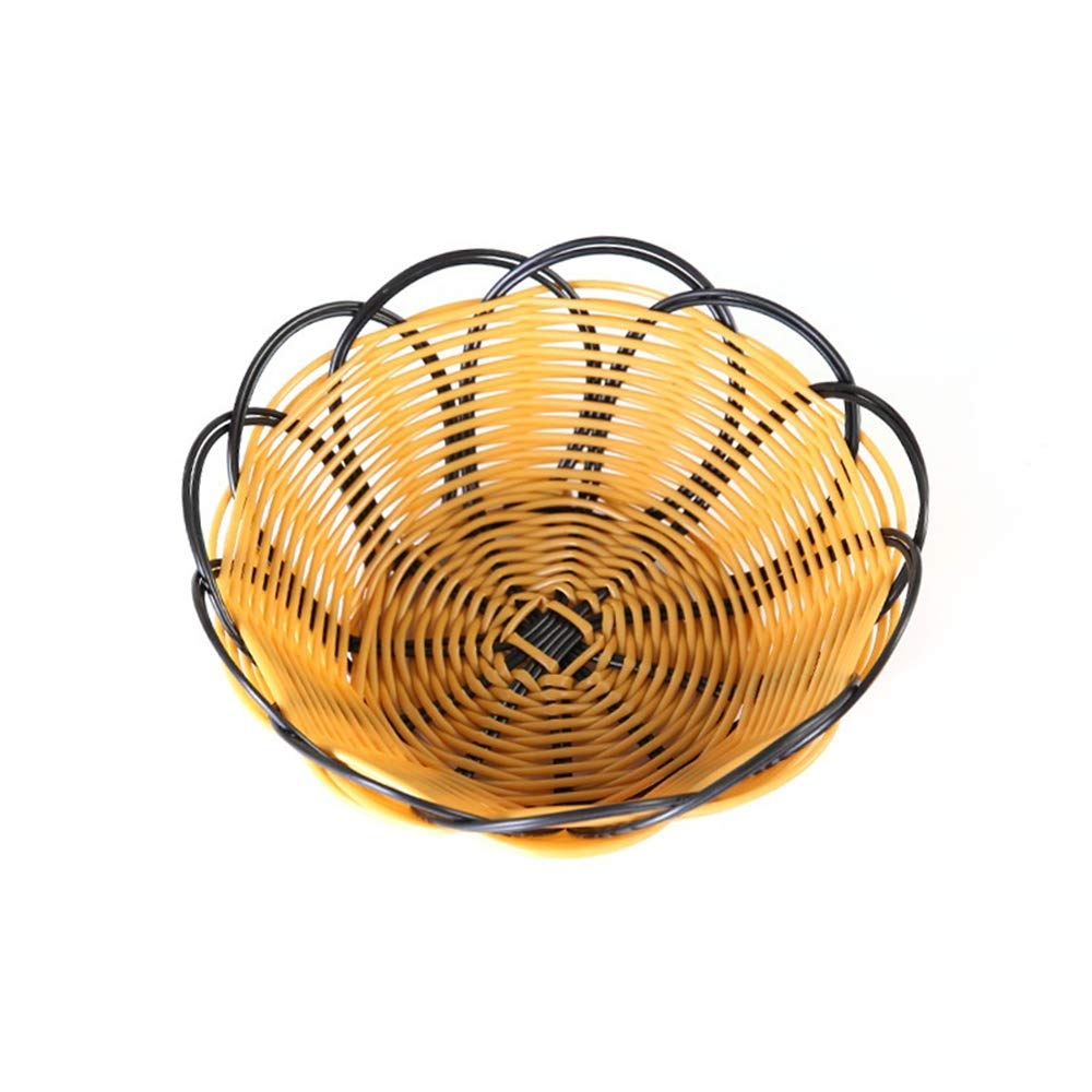 Potelin 1PCS Hand-Woven Fruit Tray Storage Basket Bowl Snack Candy Bread Organizers Tray For Home Living Room Office