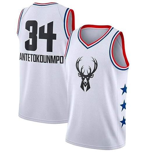 CHXY NBA # 34 Jersey De Baloncesto para Hombre - NBA Milwaukee ...