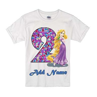 Sprinklecart Lovely Rapunzel Kids 2nd Birthday Name Printed Tshirt Gift 18