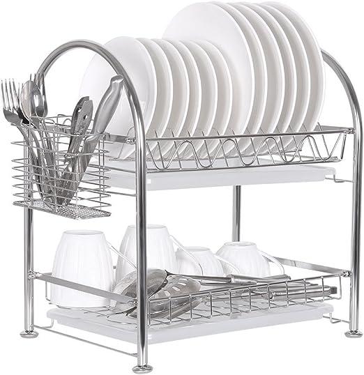 Amazon Com Nex Two Tier Dish Rack Stainless Steel Draining Rack