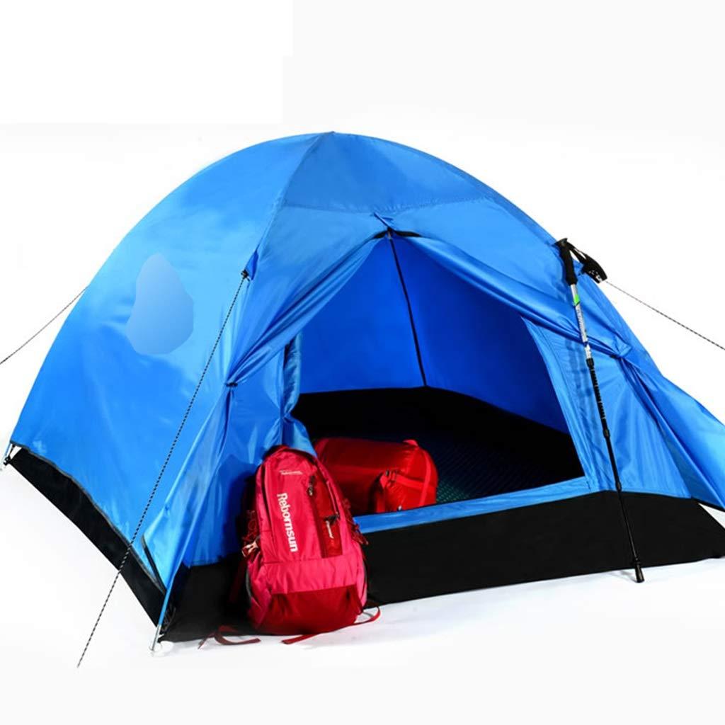 YaNanHome Doppeltes Starkes regendichtes Zelt des Zeltes im Freien 2 Leute Wildes kampierendes Zelt, Das Zeltpaarzelt wandert (Farbe : Blau, Größe : 210  180  120cm)