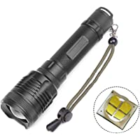 POCKETMAN Ultra Bright Handheld Flashlight,5000 Lumen XHP70 Tactical LED Flashlight Zoomable Torchlight,3 Light Modes for Camping Hiking and Home Emergency (Battery not Included)