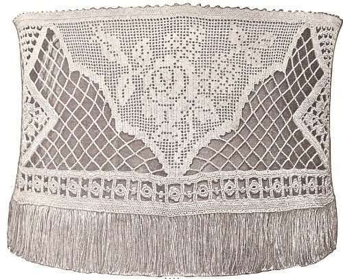 Vintage Crochet PATTERN to make - 1900s Antique Crochet Lampshade Shade. NOT a finished item. This is a pattern and/or instructions to make the item only. ()