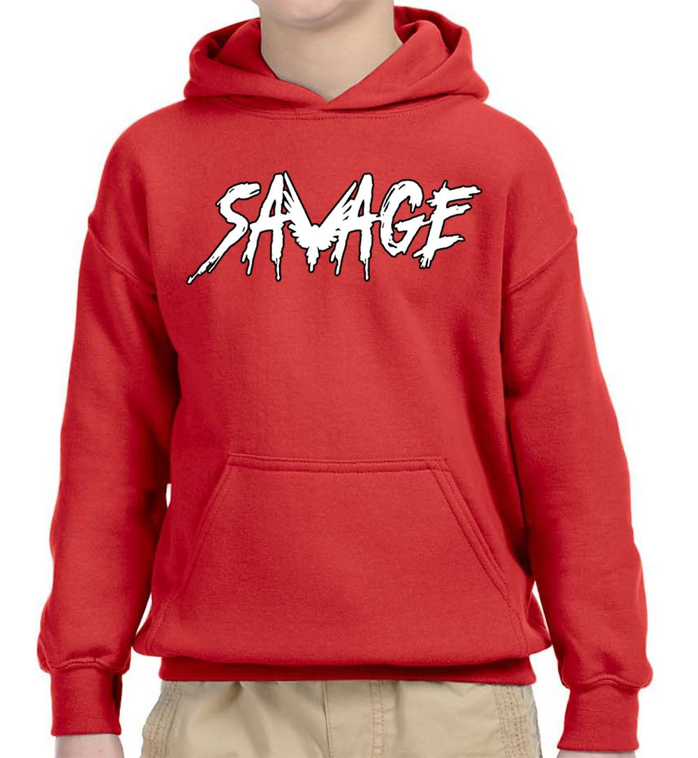52daf74f2093a New Way 788A - Youth Hoodie Savage Maverick Logang Logan Paul Unisex  Pullover Sweatshirt Medium Red
