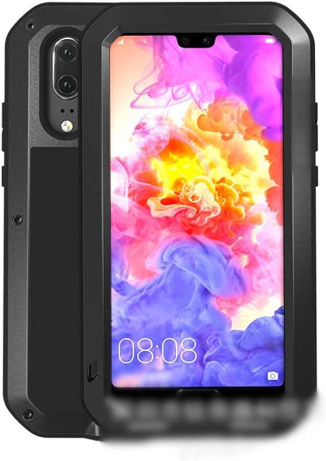 Abiliyy Huawei社P20、P20 Pro、P20 Lite、Mate10、Mate10 Pro用のファッション3アンチ携帯電話ケース新しい金属製のカバー飛散防止保護電話ケース (Color : 黒, Edition : Mate10 Pro)