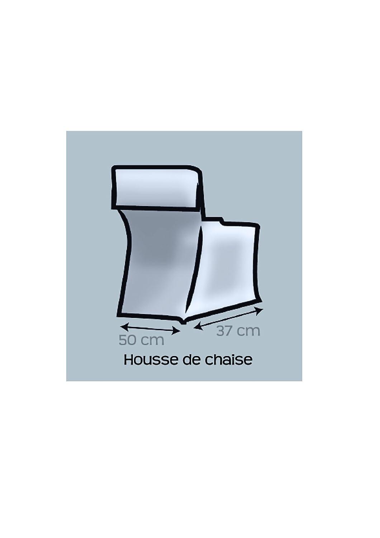 Soleil dOcre 004032 Panama Housse de Chaise Coton Gris 37 x 50 x 115 cm