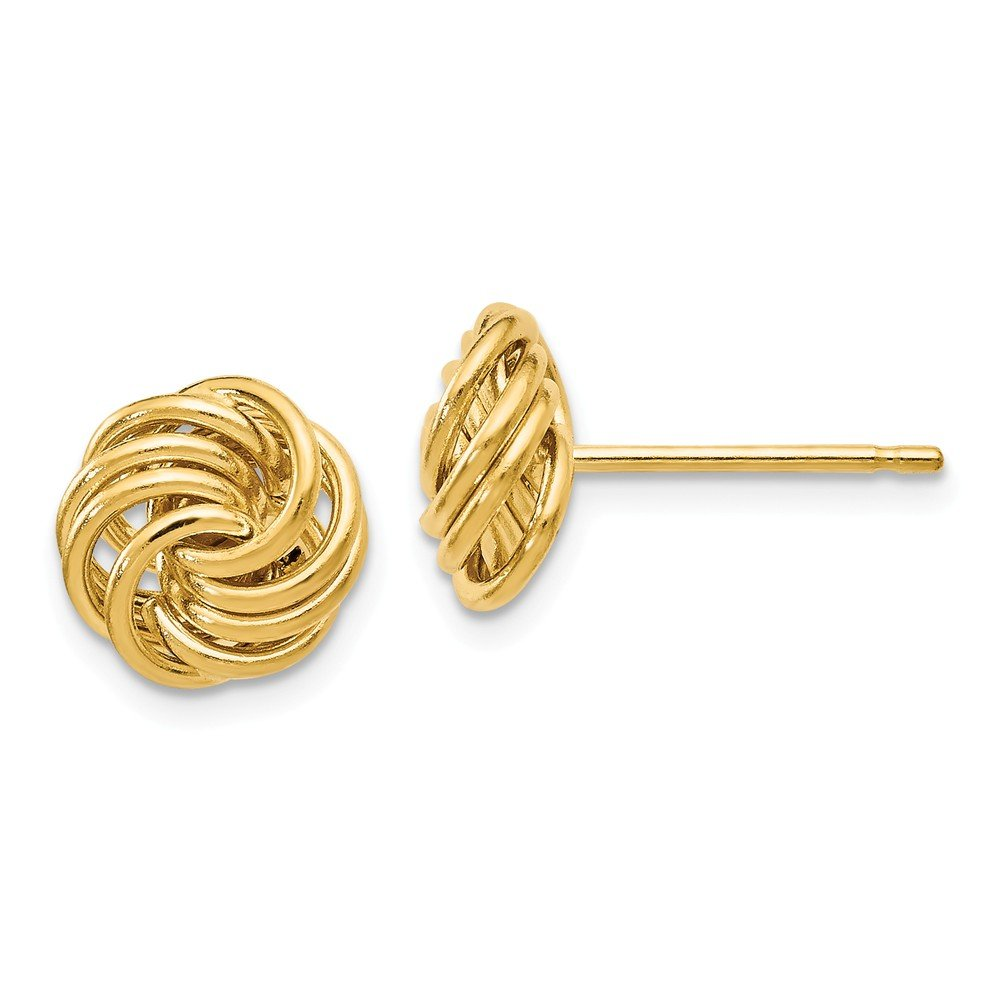 Leslies 14k Polished Love Knot Post Earrings