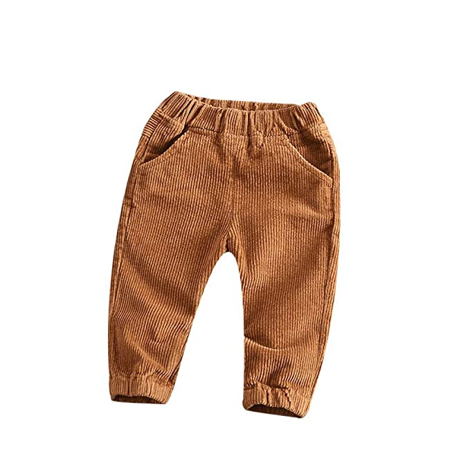 ccfec573f98 Image Unavailable. Image not available for. Color  HAXICO Unisex Kids  Corduroy Pants Todder Baby Boys Girls ...