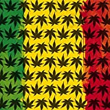 Rasta Xbox 360 Wireless Controller Skin - Marijuana Rasta Pattern Vinyl Decal Skin For Your Xbox 360 Wireless Controller