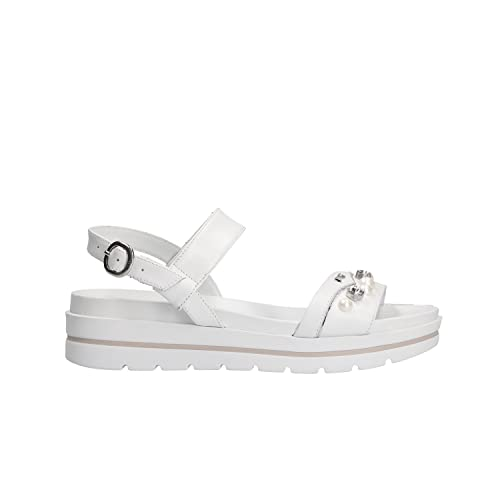 NERO GIARDINI sandali donna pelle bianco n. 38 P805854D 5854 .