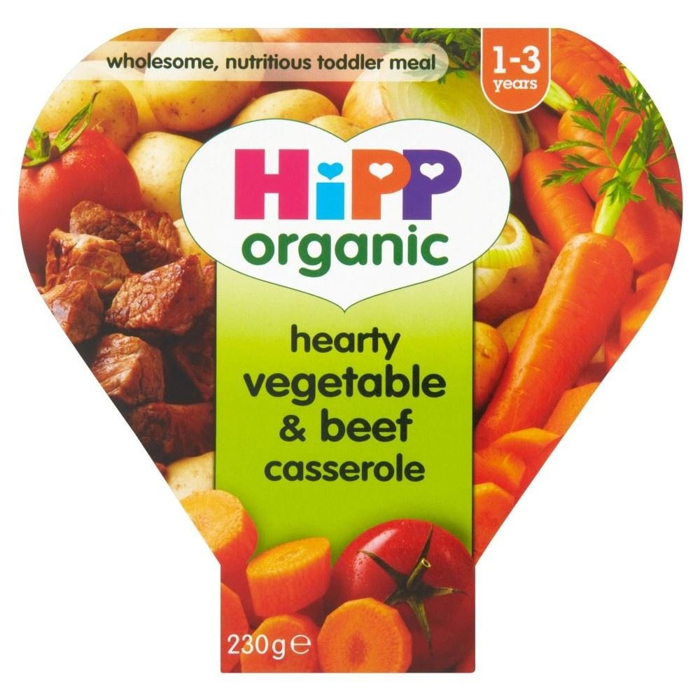 Hipp Organic Growing Up Meal Hearty Vegetable & Beef Casserole 12mth+ (260g) Grocery