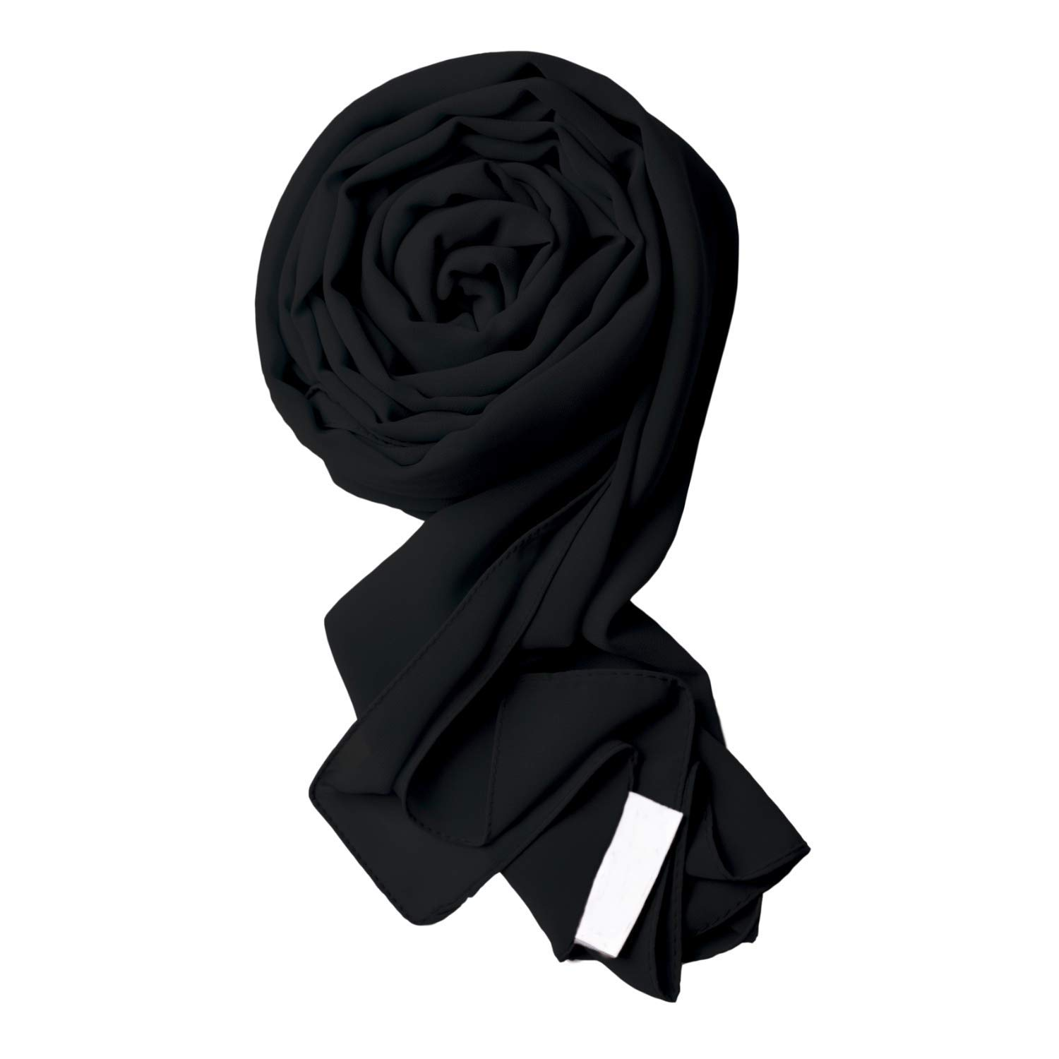 Voile Chic 8 Colors Black Premium Chiffon Wrap Head Scarf (Non-Slip) by Voile Chic
