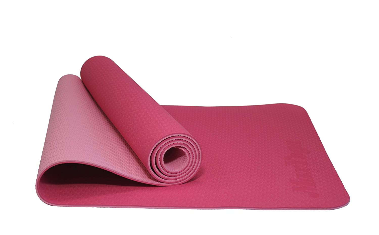 MaxDirect Colchoneta para Yoga, Pilates, Gimnasia de Material Ecológico TPE. Esterilla Antideslizante Muy Ligera de Grosor de 6mm, tamaño 183cm x ...
