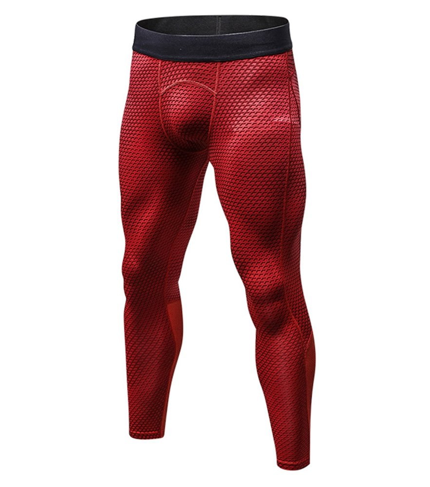 ONCEFIRST Men's Compression Pants Baselayer Sports Tights Quick Dry Leggings OCFT-YUEL-4010