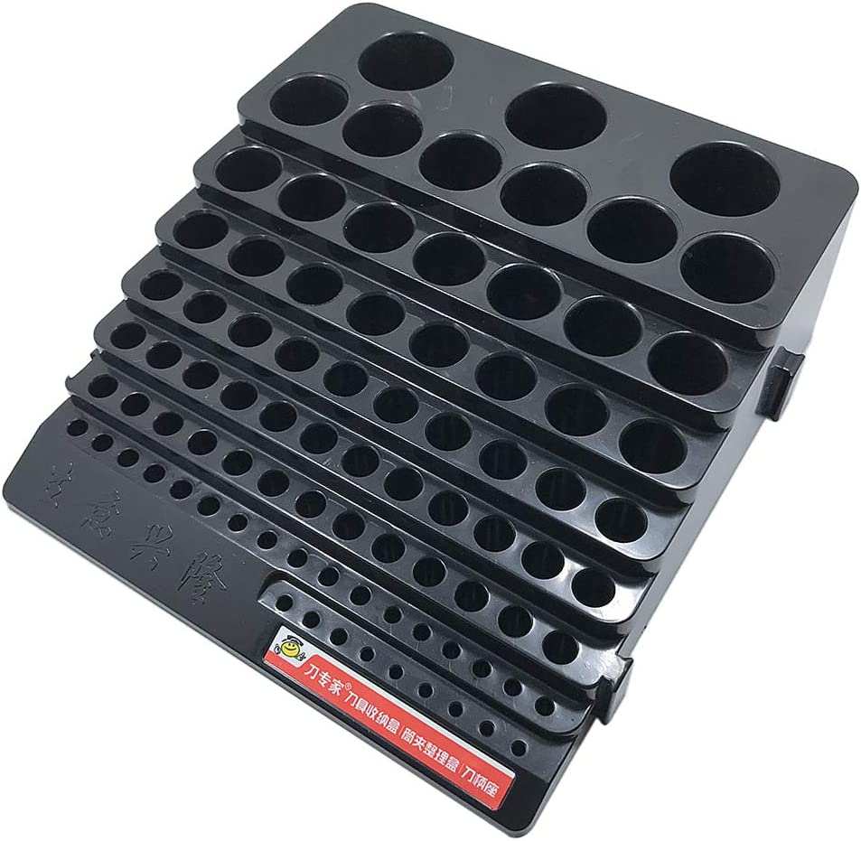 kesoto 85 Slots Organizer Container Tray Holder for Screwdriver Drill Bits Tools