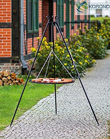101 BLACK STEEL 50CM GRILL ON TRIPODS ROD 5MM FRAME 20X4MM HAND MADE HIGH QUALITY WORKMANSHIP MADE IN POLAND