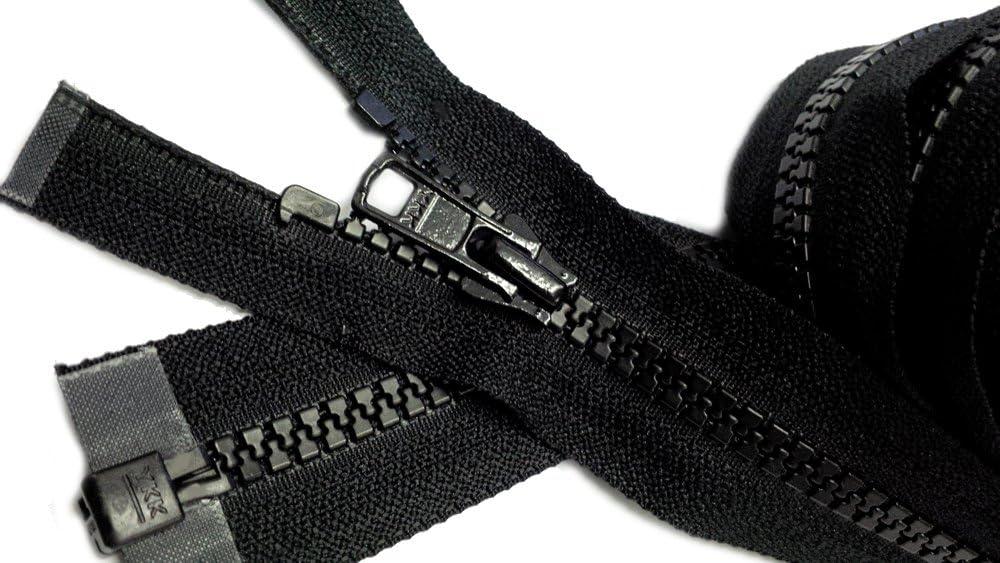 1 Zipper// Pack 580 Black 25\ Vislon Zipper ~ YKK #5 Molded Plastic ~ Separating