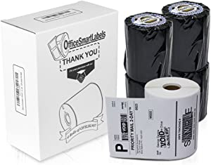 """OfficeSmartLabels - 4"""" x 6"""" 4XL Internet Postage Shipping Labels, Compatible with 1744907 (4 Rolls - 220 Labels Per Roll)"""