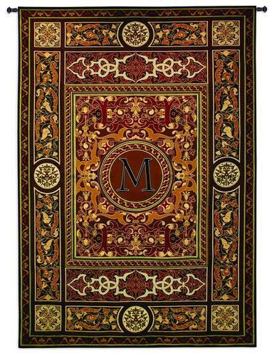 Monogram Tapestry - Fine Art Tapestries Monogram Medallion M Wall Tapestry