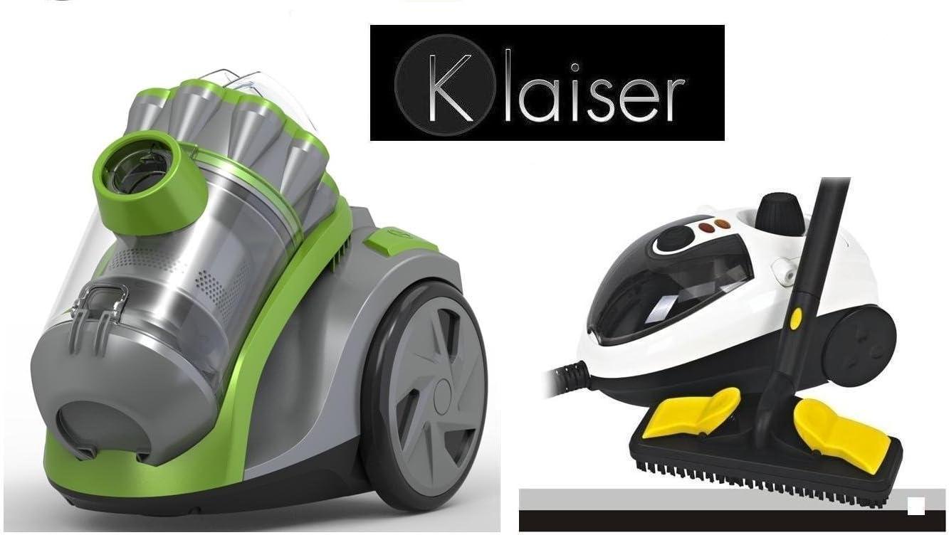 Klaiser-Kit de limpieza para aspirador sin bolsa Extractor Compact BS92EX Ultra compacto 1600W y limpiador a vapor multifunción Klaiser Newstyle 1500W: Amazon.es: Hogar
