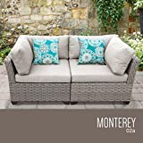 TK Classics MONTEREY-02a Monterey 2 Piece Outdoor Wicker Patio Furniture Set 02a with 1 Cover in