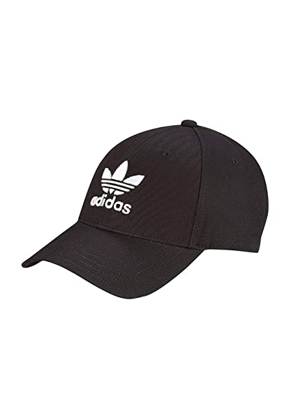 Adidas Cappello Baseball Trefoil Nero EC3603  Amazon.it  Abbigliamento ab7afdcfa165