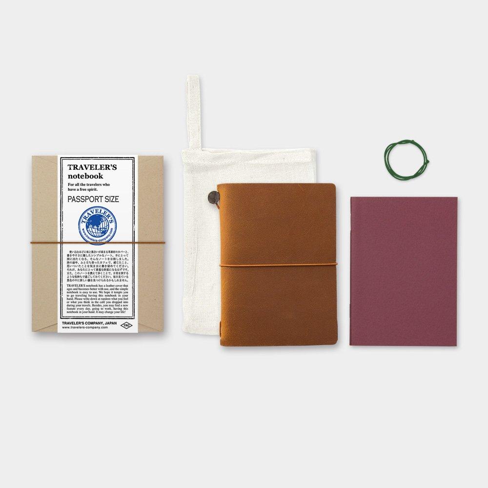 Amazon : Midori Traveler's Notebook  Starter Kit, Camel (passport  Size) : Office Products