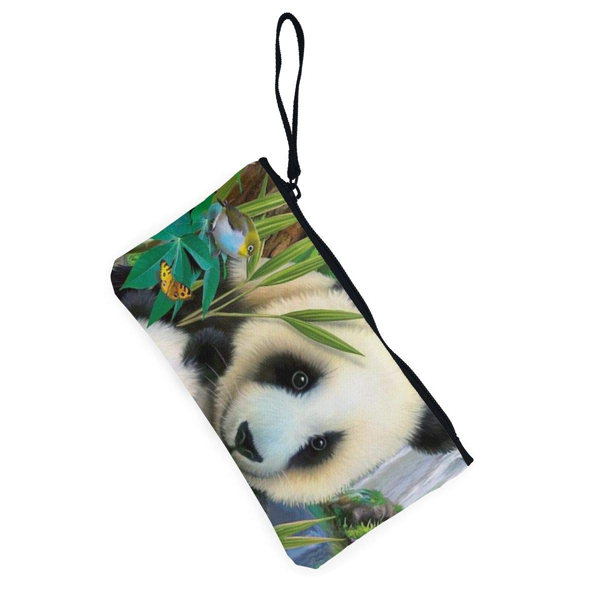 Precious Pandas Womens Canvas Coin Purse Mini Change Wallet Pouch-Card Holder Phone Wallet Storage Bag,Pencil Pen Case