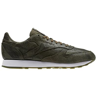 Reebok Classic Leather CTE Herren Sneaker oliv weiß