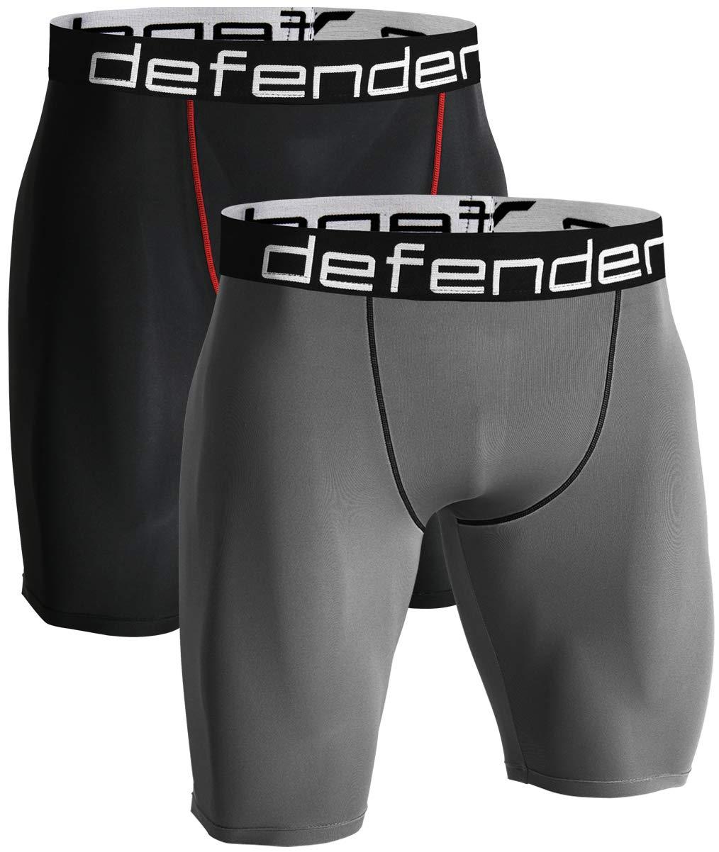 Defender Mens Cool Dry Compression Baselayer Shorts Pants Capri Tights