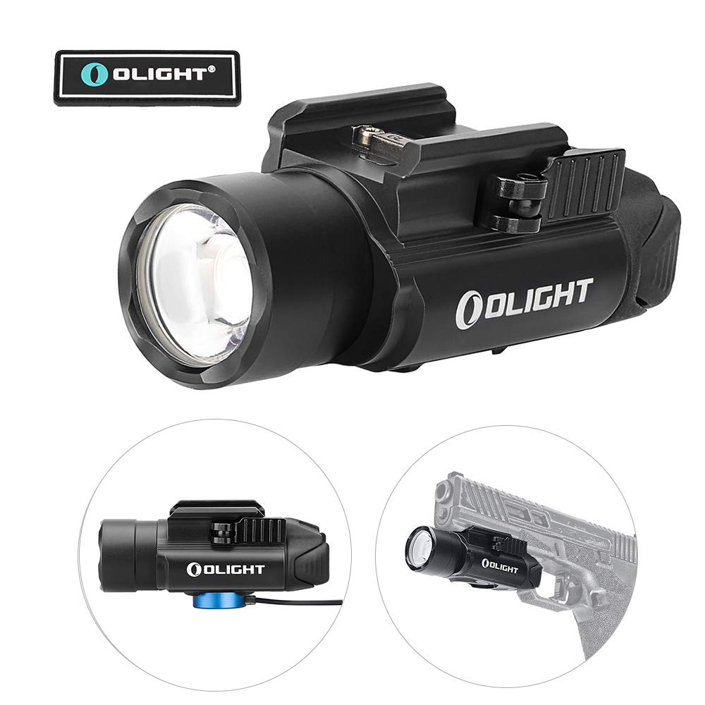 OLIGHT PL-Pro Valkyrie 1500 Lumens Cree XHP 35 HI NW Rechargeable Weaponlight Rail Mount Tactical Flashlight with Strobe (Black)