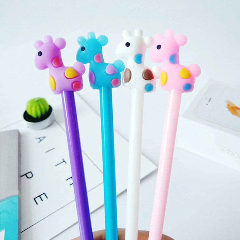 8pcs Cute Cartoon Kawaii Colorful Sheep Llama Gel Ink Ball Pens School Gifts New