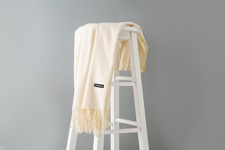 MMYOMI L automne et l hiver style coréen Les amoureux de Foulard en pur  cachemire et des châles de laine (blanc d huître)  Amazon.fr  Vêtements et  ... 6b792d3a035