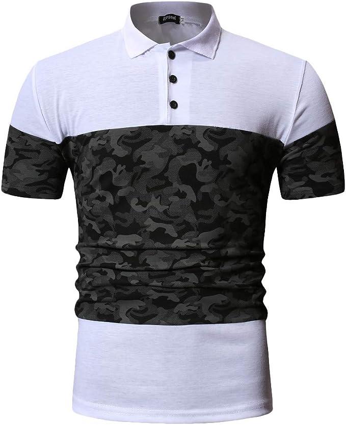 ASHOP Camisetas Hombre 2019 Summer T-Shirt Camuflaje Labor de ...