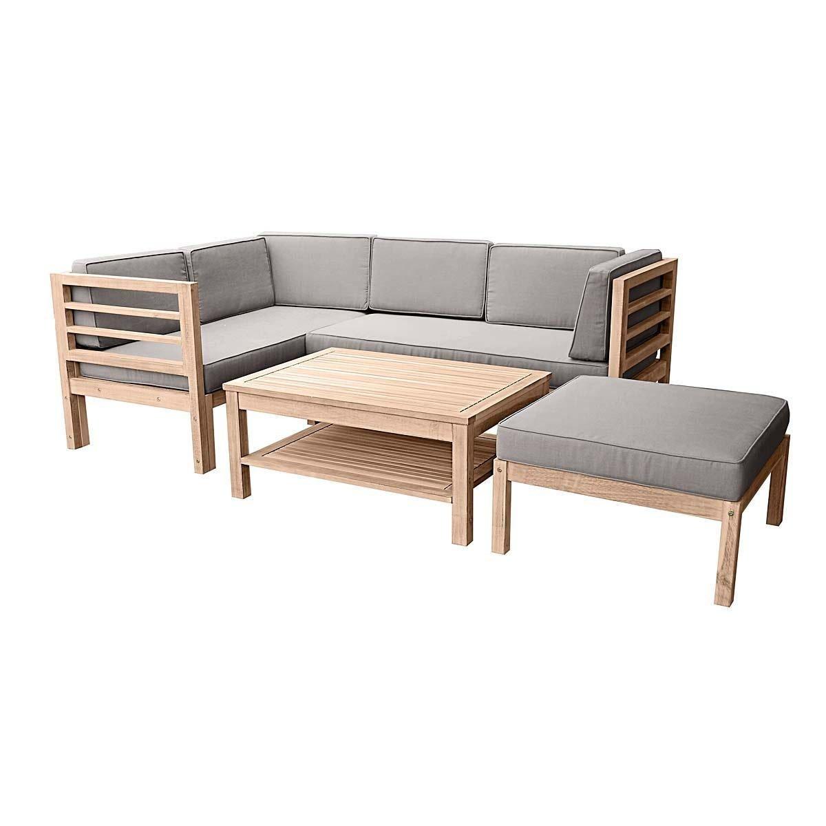 Gartenmöbel-Set variabel platzierbar 2 Sitzelemente 1 Gartentisch 1 ...