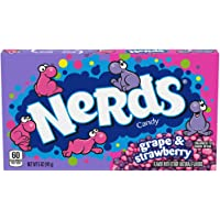 Nerds Grape & Strawberry Candy Theater Box, grape, strawberry, 60 Oz, Pack Of 12