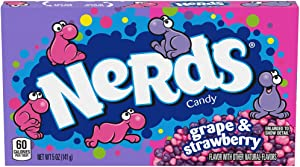Nerds Grape & Strawberry Candy Theater Box, 5 Ounce, Pack of 12