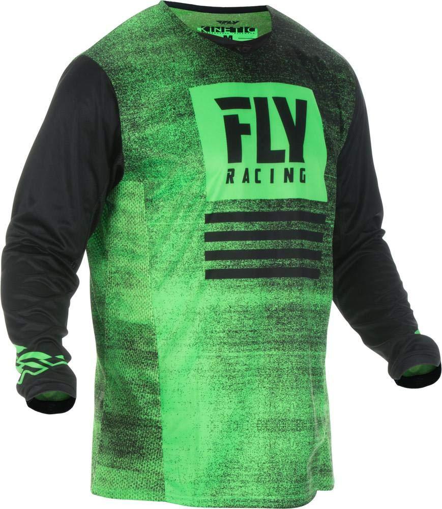 Fly Racing 2019 Kinetic Noiz Adult Motocross MTB Jersey Green//Black Medium