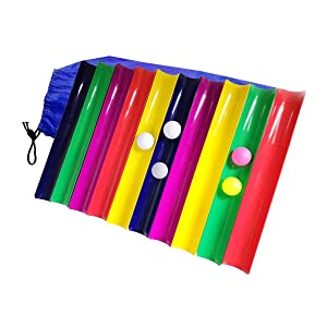 XJunion Team Building Activities Pipeline Kit Group Games,Incentive Youth Sports Team Activities, Ice Breaker (10 Half- Pipe, 3 Golf Ball, 2 Table Tennis Ball, 1 Storage Bag)