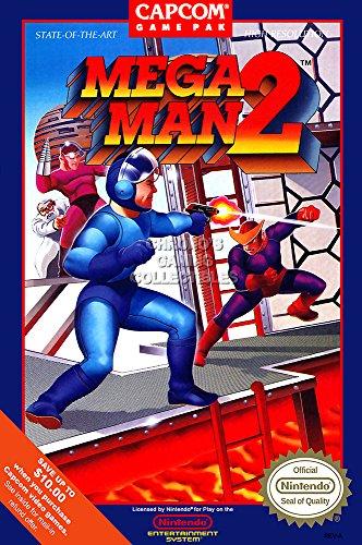 CGC Huge Poster GLOSSY FINISH - Mega Man 2 BOX ART Nintendo NES Megaman Rockman - EXT812 (24
